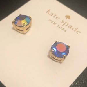 Kate Spade Stud Earrings Blue/Purple Diamond